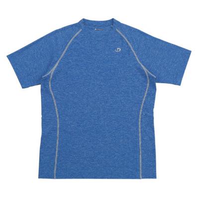 Футболка Phiten Raku Sports T-SHIRT MENS синяя и серая