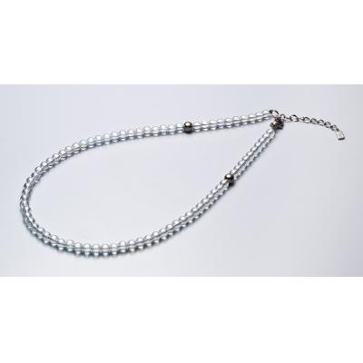 Ожерелье Phiten TITANIUM & CRYSTAL - 5 мм, X100, 40 см