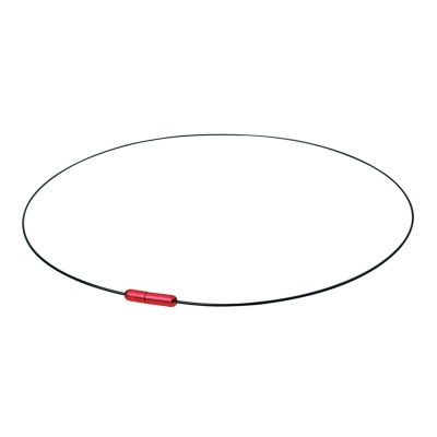Ожерелье Phiten X30 WIRE AIR черно-красное