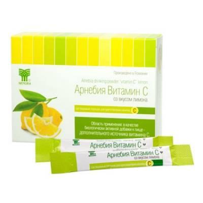 арнебия витамин с со вкусом лимона, растворимый порошок для приготовления напитка (20 штук в картонной пачке)