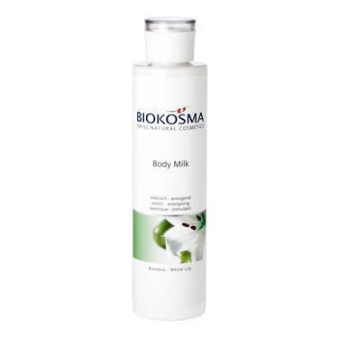 биокосма молочко для тела «бамбук - белая лилия», 250 мл