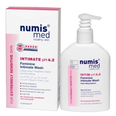 НУМИС МЕД Моющий гель для интимной гигиены у женщин рН 4,2, 200 мл