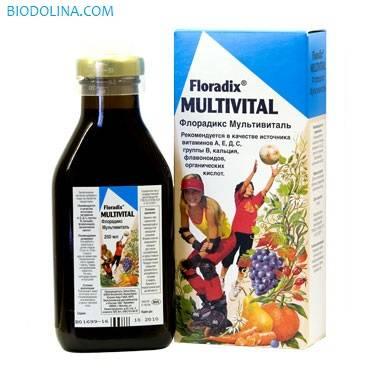 салюс флорадикс мультивиталь, 250 мл - натуральные витамины