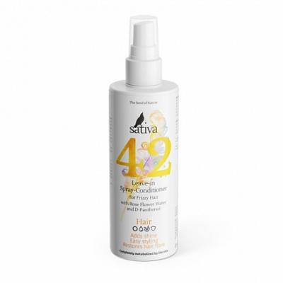 Спрей-кондиционер №42 для непослушных волос Sativa, 150 мл.