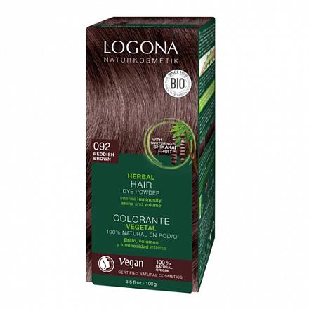 """Растительная краска для волос 092 """"Красно-коричневый"""" Logona"""