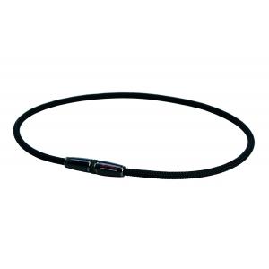 Ожерелье Phiten X100 Carbon черный и серебряный
