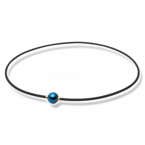 Ожерелье Phiten X100 MIRROR BALL синий, серебристый, чёрно-золотой