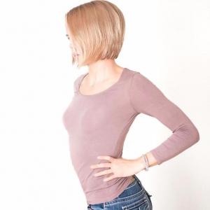 Термо футболка Phiten Comfy Inner X30 , Пурпурный и чёрный