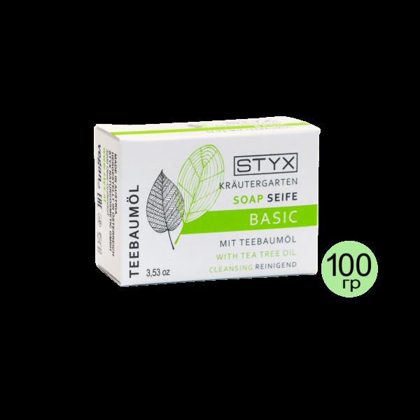 """STYX Мыло """"Чайное дерево"""" противовоспалительное, 100 г"""