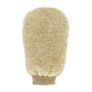 ФЁРСТЕРС Массажная мочалка-варежка двухсторонняя из органического льна и бамбука