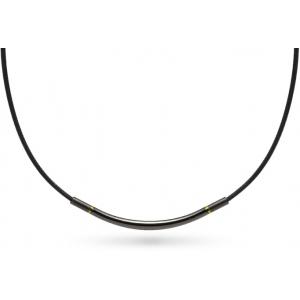Ожерелье Phiten METAX ROUND черно-золотое или чёрно-серебристое