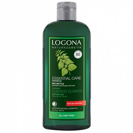 Шампунь для базового ухода за волосами с Экстрактом Крапивы Logona, 250 мл.