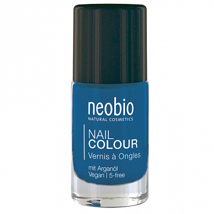 "Лак для ногтей №08 ""Сияющий синий"" NeoBio, 8 мл."