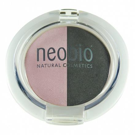"""Двойные тени для век """"Тон 01 розовый бриллиант"""" NeoBio, 2.5 г."""