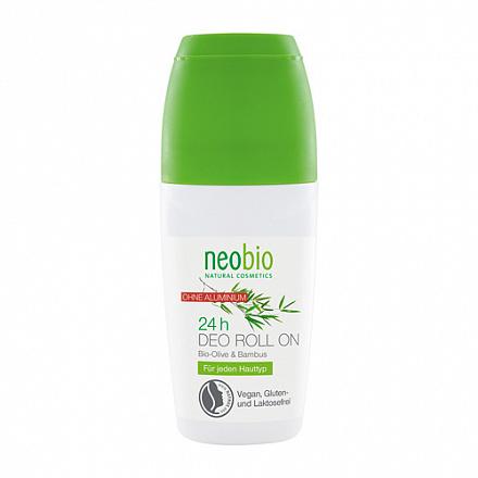 Дезодорант шариковый 24 часа с био-оливой и бамбуком NeoBio, 50 мл.