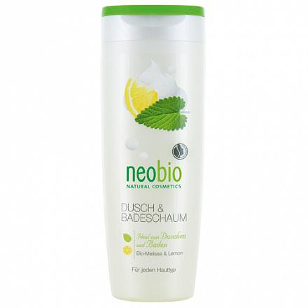 Пена для душа и ванны с био-мелиссой и лимоном NeoBio, 250 мл.
