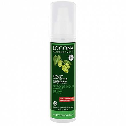 """Натуральный фиксирующий спрей-лак для волос """"Био- Хмель"""" Logona, 150 мл."""