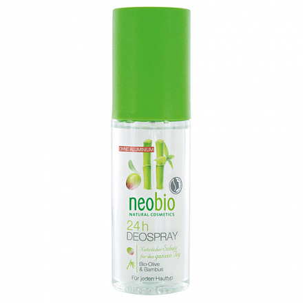 "Дезодорант спрей 24 часа ""С био-оливой и бамбуком"" NeoBio, 100 мл."