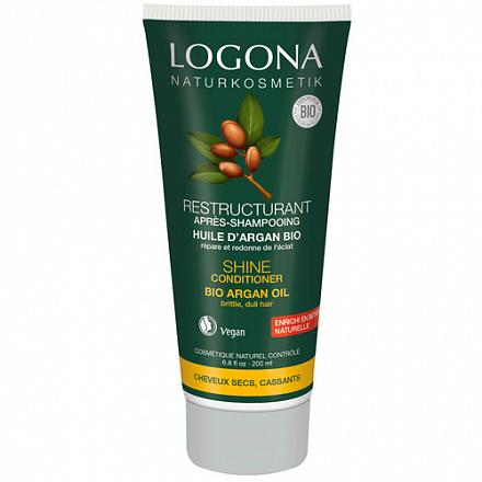 Кондиционер для блеска волос с био-аргановым маслом Logona, 200 мл.