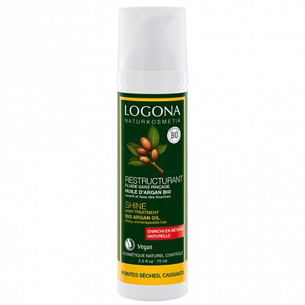 LOGONA Сыворотка  для интенсивного воcстановления блеска волос с БИО-Аргановым маслом 75 мл