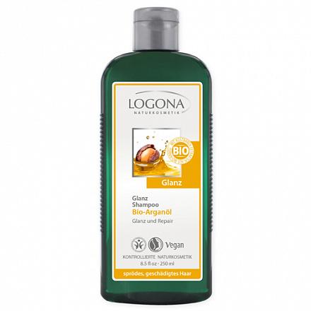 Шампунь для блеска с био-аргановым маслом Logona, 250 мл.