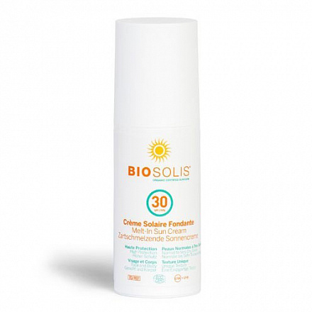 Деликатный солнцезащитный крем-пенка SPF30 BIOSOLIS 100 мл.