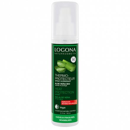 Увлажняющий спрей-термозащита для волос Logona, 150 мл.
