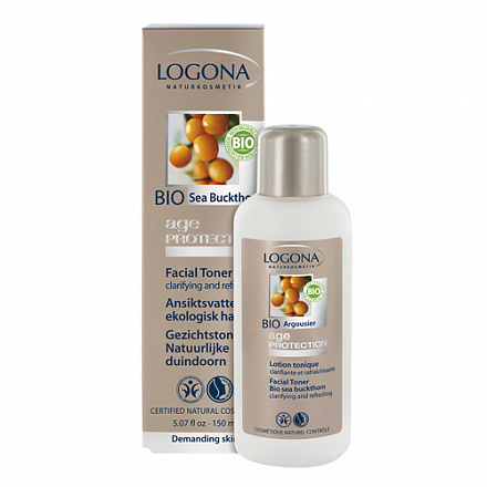 LOGONA Age Protection Тоник для лица против морщин с Био-Облепихой 150 мл