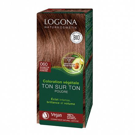 """Растительная краска для волос 060 """"Коричневый ореховый"""" Logona"""