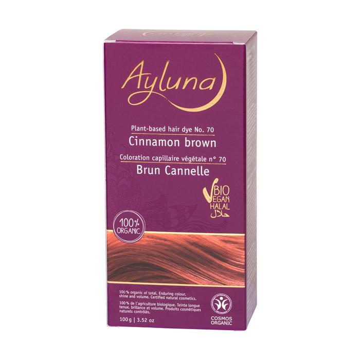 АИЛУНА Краска для волос №70 «КОРИЧНЫЙ КОРИЧНЕВЫЙ» растительная, 100 г