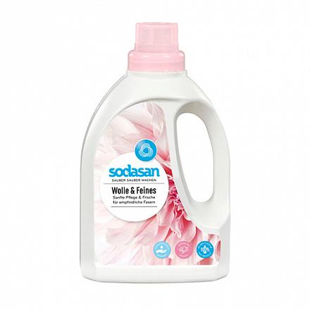 Жидкое средство-концентрат для стирки изделий из шерстяных, шелковых и деликатных тканей Sodasan 1л.
