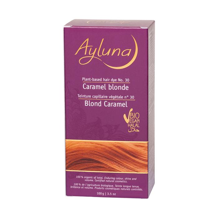 АИЛУНА Краска для волос №30 «КАРАМЕЛЬНЫЙ БЛОНДИН» растительная, 100 г