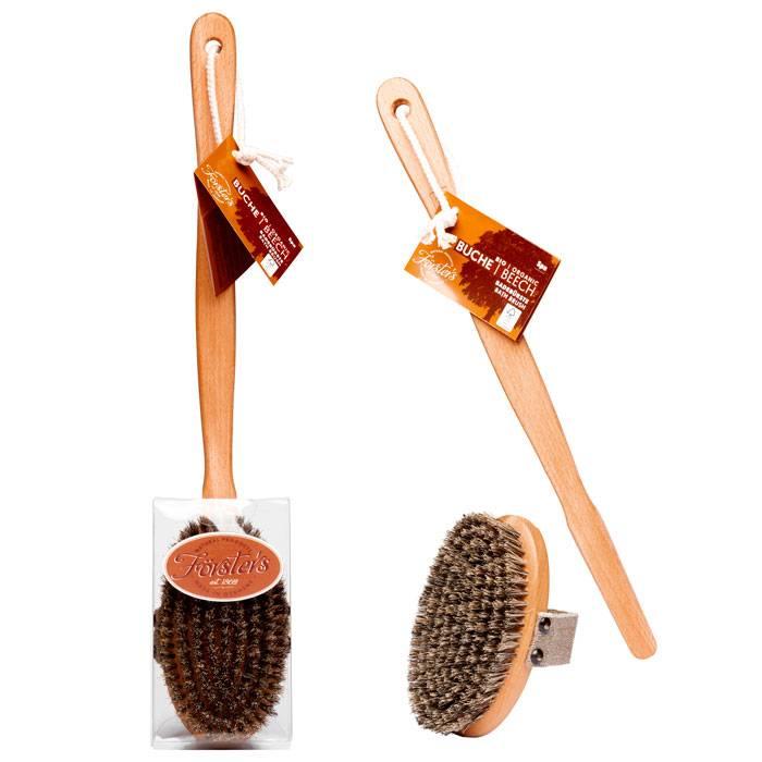 ФЁРСТЕРС Массажная щетка со съемной ручкой из древесины и натуральной щетиной