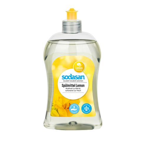 Жидкое средство-концентрат для мытья посуды с лимоном Sodasan 500 мл.