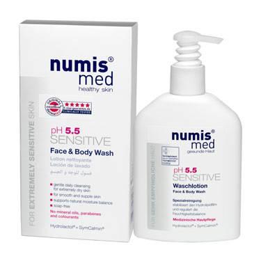 НУМИС МЕД Моющее средство для лица и тела «СЕНСИТИВ рН 5,5», 200 мл