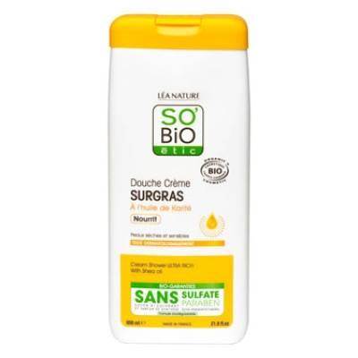 собио этик ультра питательный крем для душа с маслом ши для сухой и чувствительной кожи, 650 мл
